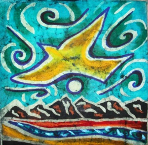 Batik Painting by  Abby Paffrath